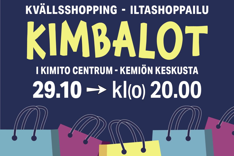 KIMBALOT – uusi koko perheen ostostapahtuma Kemiössä